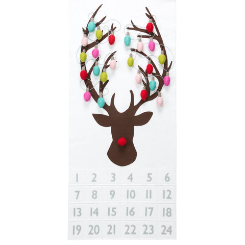 Rudolph The Red-Nosed Reindeer Modern Lights Advent Calendar Pattern
