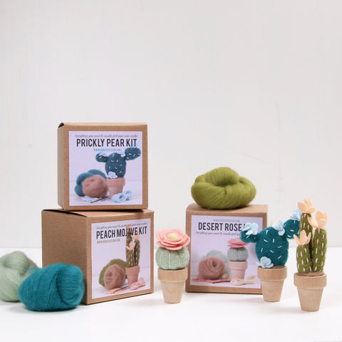 Needle Felting Kit, Peach Mojave