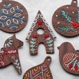 Gingerbread House - DIY Stitched Ornament Kit