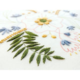 April flowers embroidery kit, floral embroidery kit