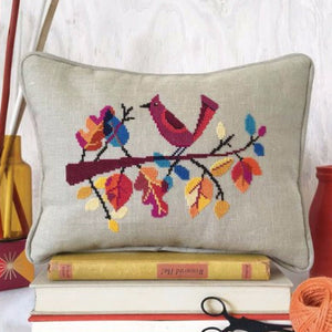 Cross Stitch Autumn Bird