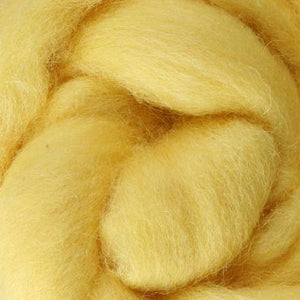 butter wool roving, yellow wool roving, needle felting, wool roving