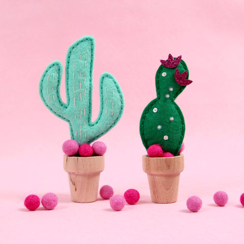 felt cactus, stitchable die, neat and tangled die cut