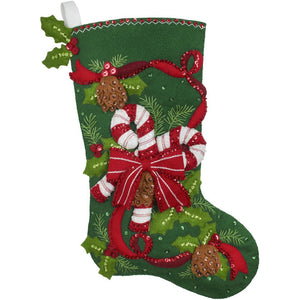 Candy Cane and Ribbons Stocking Kit
