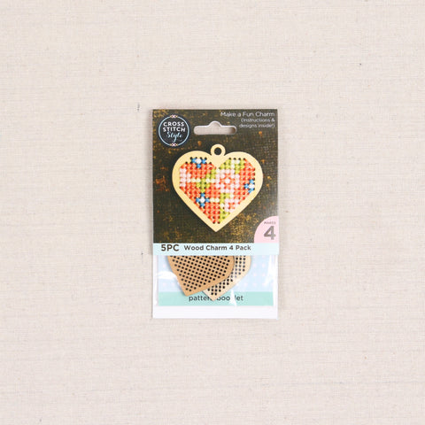 Wood Cross Stitch Charms
