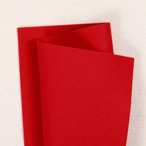 Cherry Red Pure Wool Felt
