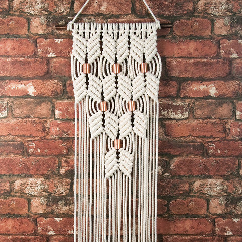 Macramé Wall Hanging Kit: Chevron + Copper