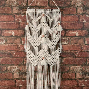 Macramé Wall Hanging Kit: Chevrons + Tassels