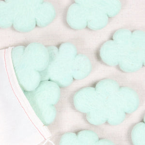 Felt Clouds in Mint