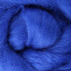 blue wool roving, blue needle felting wool, Corriedale roving