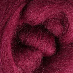 Burgundy Corriedale Roving, 1oz