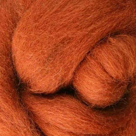 Cinnamon Corriedale Roving, 1oz