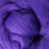 purple wool roving, purple Corriedale roving, needle felting