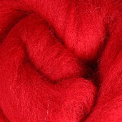 Red Corriedale Roving, 1oz