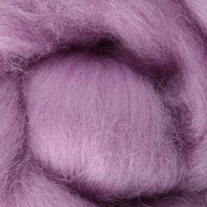 thistle wool roving, purple wool roving, lavender wool roving, light purple wool roving