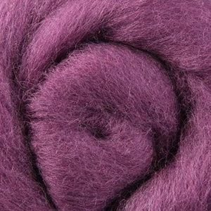 vineyard wool roving, purple wool roving, plum, aubergine