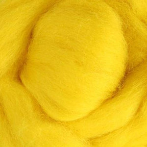 Yellow Corriedale Roving, 1oz