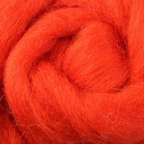 pumpkin wool roving, orange wool roving, wet felting, needle felting