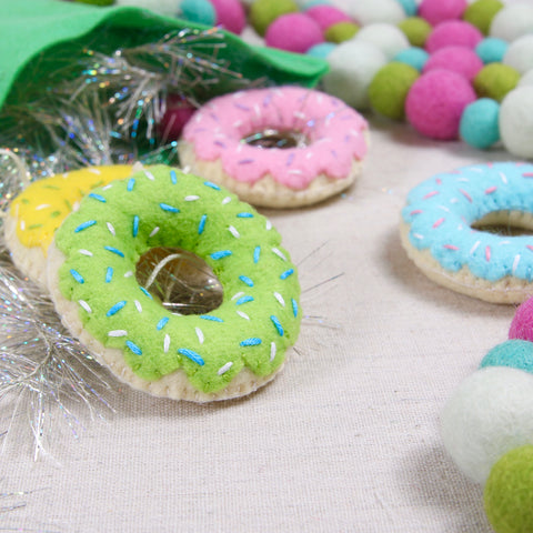 Felt Doughnut Ornament