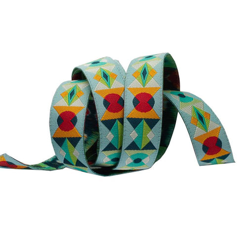 woven ribbon, geometric ribbon, modern ribbon