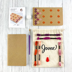 Embroidered Notebook Kits in Autumn