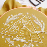 folk art holiday embroidery kit