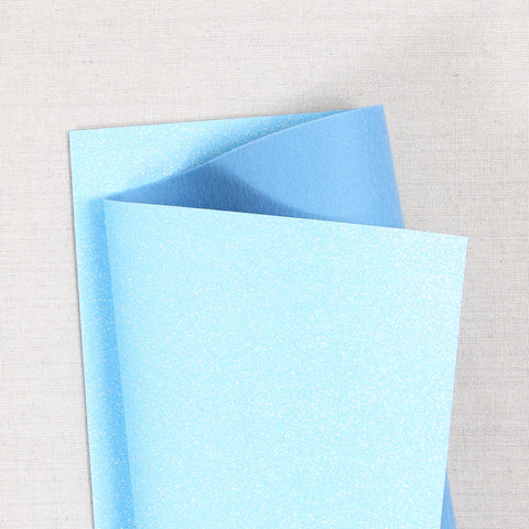 salt water glitter felt, blue glitter felt, light blue glitter felt