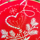 Holiday Heart Embroidery Kit