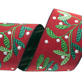 Holly Woven Ribbon