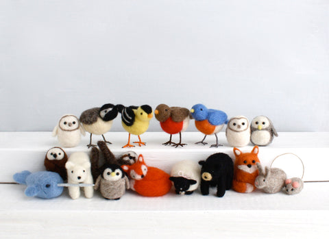 Needle Felting Kit, Birds