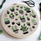 Dark Modern Botany Cross Stitch