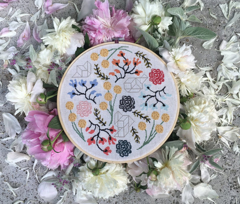 Floral Boogie Cross Stitch