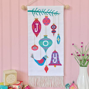 Cross Stitch Joy Banner
