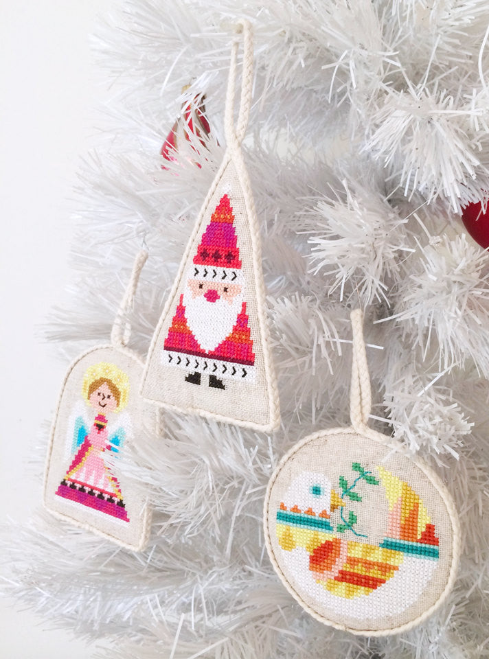 cross stitch christmas ornaments - Cross Stitch Christmas Decorations