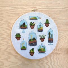 Terrarium Cross Stitch