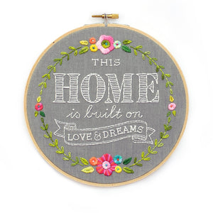 Home/Love/Dreams Embroidery Pattern