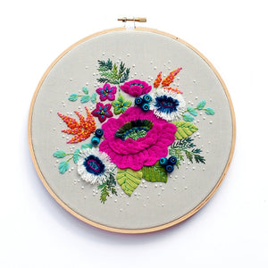 Winter Bouquet Embroidery Pattern