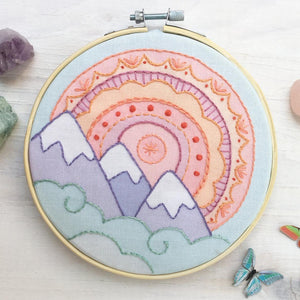 Mountain Rainbow Hand Embroidery Sampler