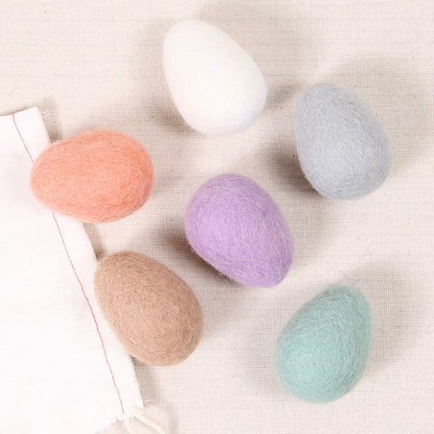 Neutral Easter Eggs, Felt Shapes