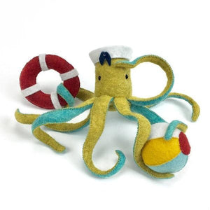 octopus craft, octopus hand-sewing kit, cute octopus DIY