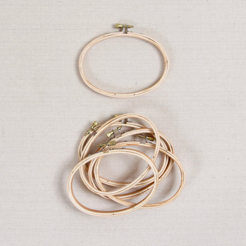 Oval Wood Embroidery Hoops
