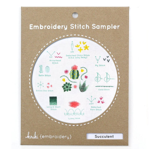 Succulent Stitch Sampler