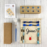 Embroidery Pencil Case Kit in Autumn
