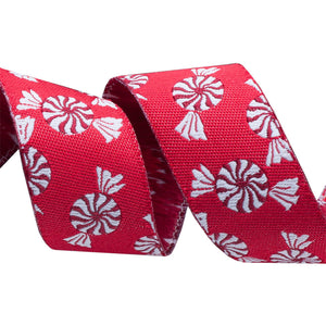 Peppermints Woven Ribbon
