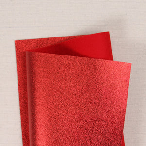 Red Metallic Felt