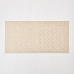 Sashiko Fabric, Circle Pattern in Natural