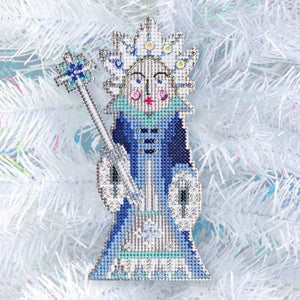 Nutcracker Christmas ornament, Snow Queen ornament kit, Nutcracker embroidery, Nutcracker craft