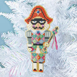 Nutcracker embroidery kit, Nutcracker ornament, Christmas Ornament Kit, Nutcracker Harlequin