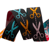 Scissors Woven Ribbon