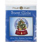 snow globe cross stitch ornament kit